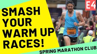 Half MARATHONS (and 20 Miles) As WARM UP Races For MARATHON SUCESS .. TUNE UP GET FAST!