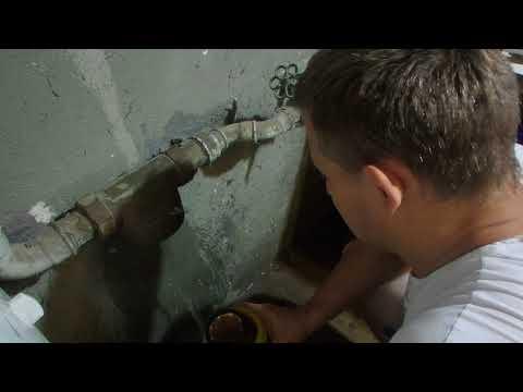 Filter wechseln am Haus Wasseranschluss Hauptrohr