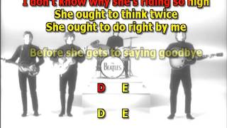 Ticket To Ride Beatles Best Karaoke Instrumental Lyrics Chords Cover