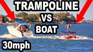 TRAMPOLINE VS WAKEBOARD!!! *Dislocated Shoulder*   JOOGSQUAD PPJT