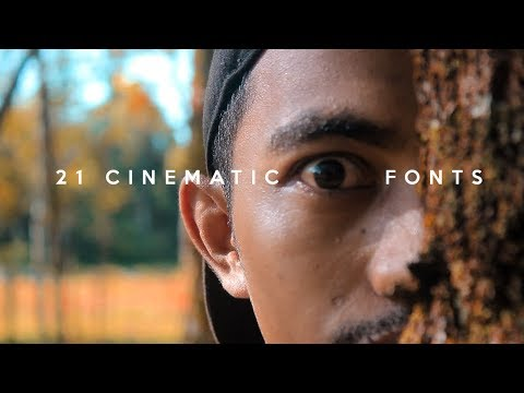 6 Cinematic FONTS for FREE (Final Cut Pro X, Adobe Premiere