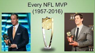 Every NFL MVP! (1957-2016)
