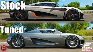 Forza Horizon 4: Stock vs Tuned! Koenigsegg One:1 vs Koenigsegg CCX