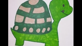 How To Draw A Cute Cartoon Turtle #1