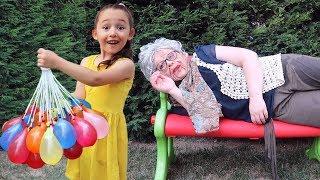 Grandma funny on, Kid Family Fun - Hide and Seek - Oyuncak Avı Öykü