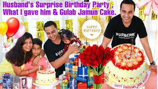 Surprising Husband On His Birthday Gifts and Gulabjamun Cake | SuperPrincessjo vlogs