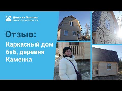 """Каркасный дом 6х6 комплектации """"Под ключ"""" Лен.область, деревня Каменка"""