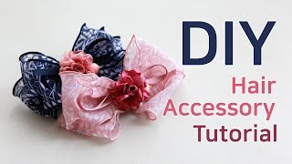 DIY/How To Make A Hair Bow/hair Accessories/hair Ribbon Bow Tutorial/(HP840)단델리온리본핀/리본핀만들기