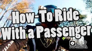 How To Ride With A Passenger