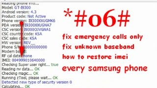 Repair wrong / null IMEI & Serial number Samsung phone tested 100