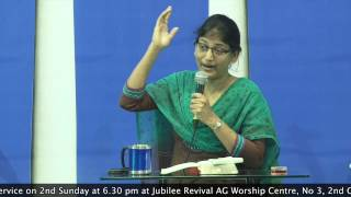 18-3-15 Bible Study Series On Sanctification - Pastor Pramila Jeyaraj