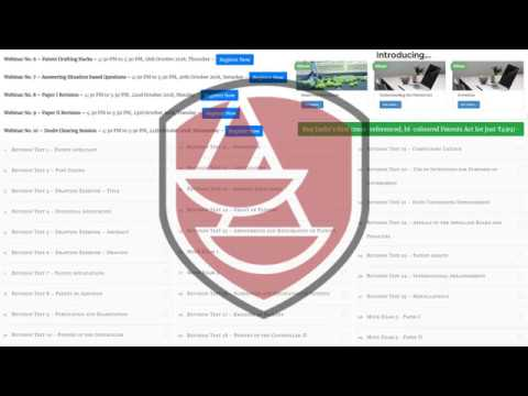 Webinar No 5 – Tips to Clear Patent Agent Exam - YouTube