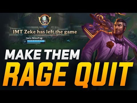 Simple Strategies to Make Your Opponent Rage Quit