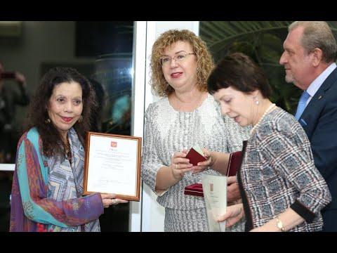 Compañera Rosario Murillo es condecorada con la Orden de la Amistad por la Federación de Rusia