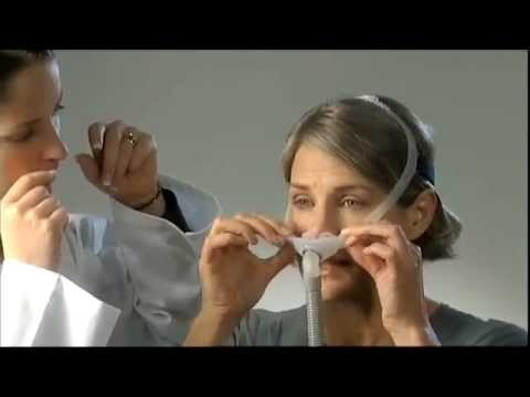Swift FX Nasal Pillow System Fitting & Cleaning ResMed video showing the proper method for fitting, cleaning and assembly of the Swift FX nasal pillow mask system
