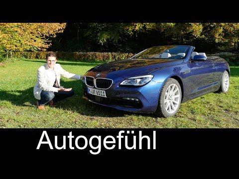 BMW 6-Series Convertible 6er Cabriolet Facelift FULL REVIEW test driven 640d 2016 - Autogefühl