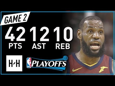 LeBron James Full Game 2 Highlights vs Celtics 2018 NBA Playoffs ECF – 42 Pts, 12 Ast, 10 Reb!