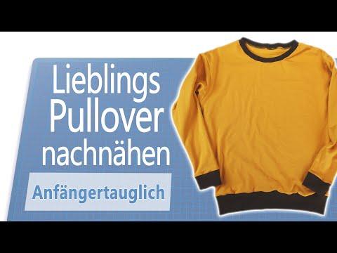 Pullover / Pulli nähen für Anfänger - ohne Schnittmuster