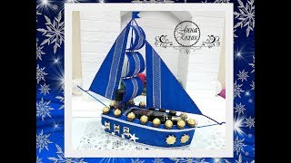 Яхта из конфет юлия махова