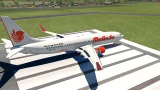 Malindo Air Skids off Runway at Tribhuvan Airport [XP11]