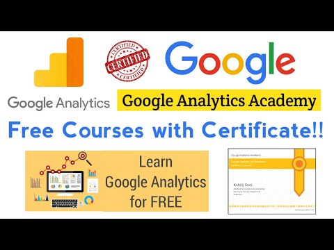 Google Analytics Academy Free Courses with Certificate - YouTube
