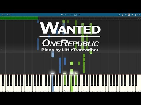 OneRepublic - Wanted (Piano Cover) Synthesia Tutorial by LittleTranscriber