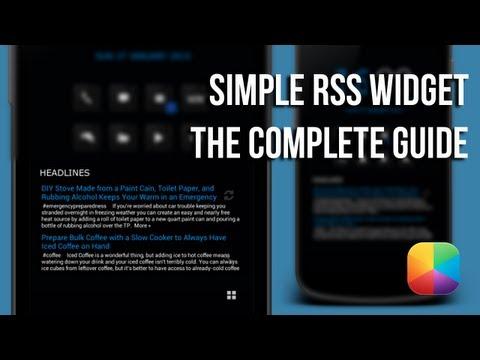 Video of Simple RSS Widget