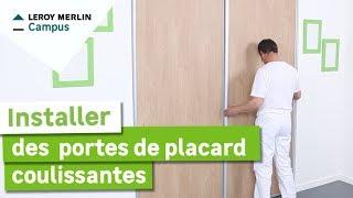 Comment installer des portes de placard coulissantes ?
