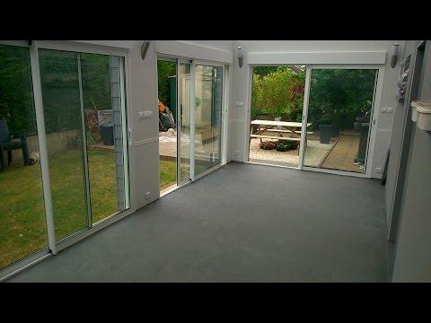 Une veranda a la place d'une terrasse...aout 2013