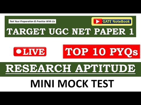 MINI MOCK TEST | TOP 10 Previous Year Questions SPECIAL | RESEARCH APTITUDE | Paper 1 - NTA UGC NET