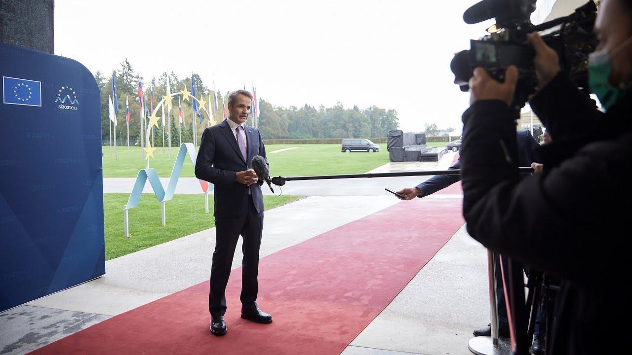 Δήλωση Κυριάκου Μητσοτάκη από τη Σλοβενία, όπου συμμετέχει στη Σύνοδο ΕΕ – Δυτικών Βαλκανίων