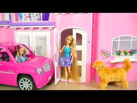 Barbie Rapunzel Pink Dream House Morning Rumah boneka Barbie rosa Puppenhaus