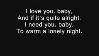 I Love You Baby   Frank Sinatra Lyrics.wmv   Video