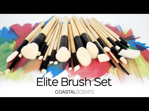 Bộ cọ trang điểm Coastal Scent 24 cây Elite Makeup Brush Set