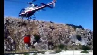 preview picture of video 'motta san giovanni incendio elicottero'