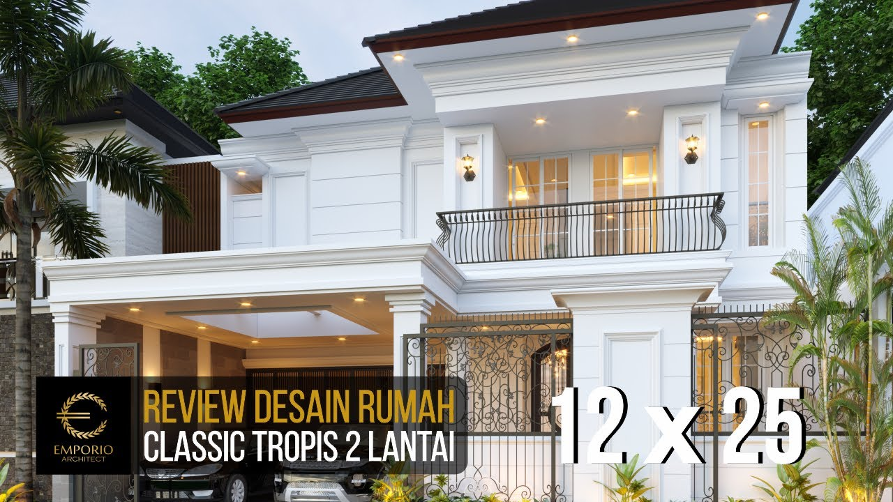 Video 3D Mrs. Sicil Classic House 2 Floors Design - Jakarta Selatan