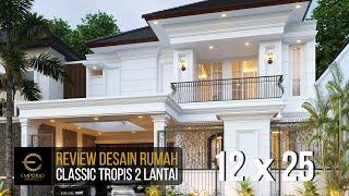 Video Desain Rumah Classic 2 Lantai Ibu Sicil di  Jakarta Selatan