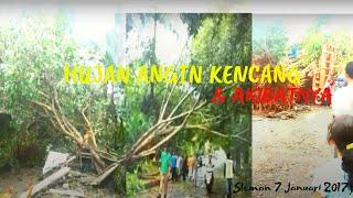 Hujan Angin Kencang Dan Akibat Setelahnya SlemanYogyakarta 9 Januari 2017