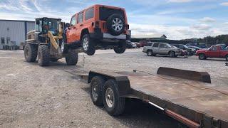 Rebuilding A Wrecked 2013 Jeep Wrangler JK Sahara Part 1