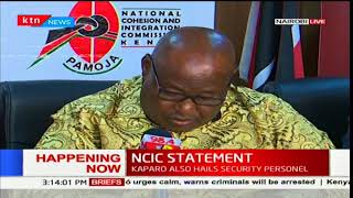 NCIC Chairman Francis Ole Kaparo issues a warning to politicians and supporters to desist from chaos