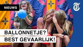 Lachgas-hype in Nederland: 'Een serieus risico'