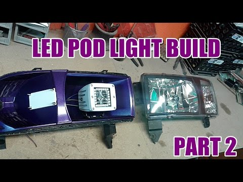 CUSTOM HALO LED POD HEADLIGHT BUILD PT.2