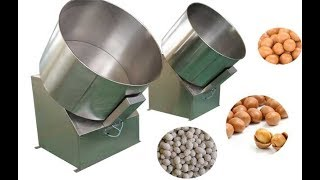 high quality automatic flour coated peanut machine  peanut coating machine sugar coated nut  machine