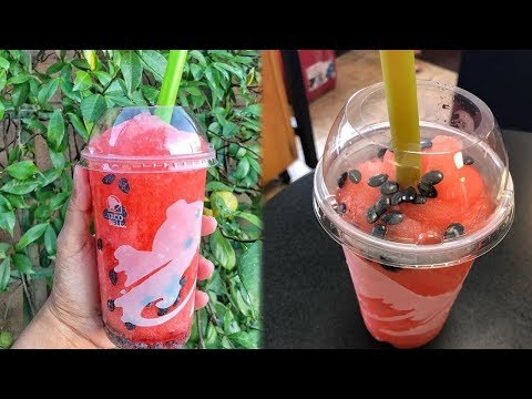 Taco Bell DEBUTS New Watermelon Freeze With Candy Seeds