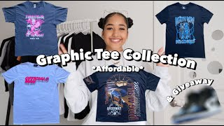 *Affordable* Graphic Tee Collection! + 50K Giveaway Announcement