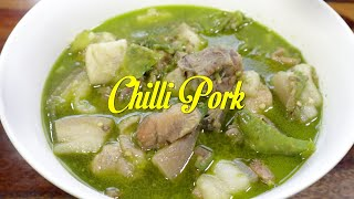 Traditional Garo Style Chilli Pork   Wak Kapa   How to Cook Chilli Pork at Home   Garo Pork Recipe