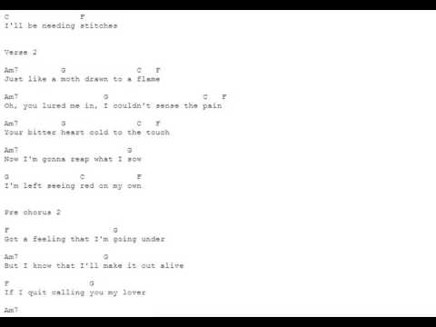 Stitches - Shawn Mendes - Guitar Tabs and Chords