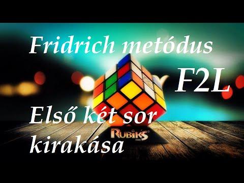 Fridrich metódus F2L (első két sor) oktató videó letöltés