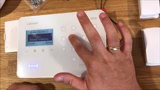Safe2Home Serie SP210 - erste Schritte - Inbetriebnahme - Funk Alarmanlage Menü Struktur