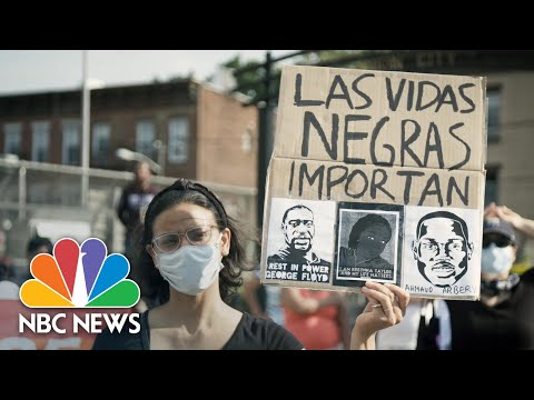 Latino Community Marches In Solidarity With Black Lives Matter Movement | NBC News